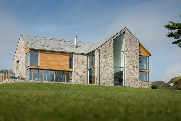Contemporary Replacement Dwelling, Cubert by Laurence Associates Modern Glass