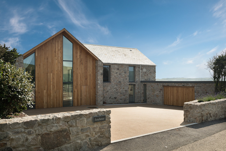 Contemporary Replacement Dwelling, Cubert by Laurence Associates Modern Wood Wood effect