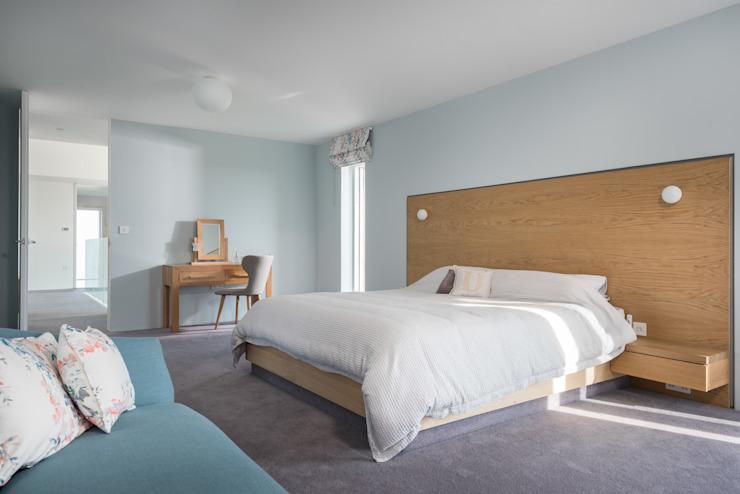 Contemporary Replacement Dwelling, Cubert Modern style bedroom by Laurence Associates Modern