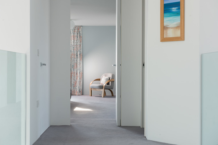 Contemporary Replacement Dwelling, Cubert Modern Corridor, Hallway and Staircase by Laurence Associates Modern