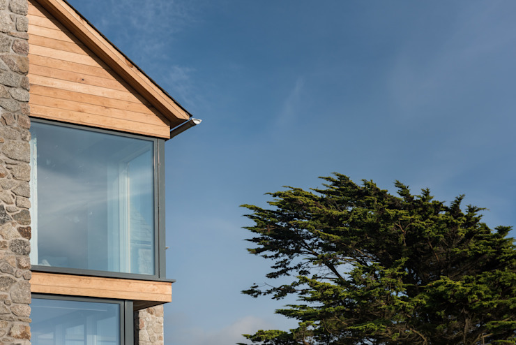 Contemporary Replacement Dwelling, Cubert Modern home by Laurence Associates Modern Wood Wood effect
