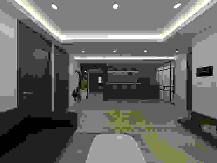 두공간을-- 한공간으로 인테리어 디자인 모던스타일 거실 by 디자인 이업 모던 우드 + 플라스틱