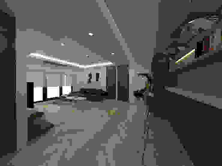두공간을-- 한공간으로 인테리어 디자인 모던스타일 거실 by 디자인 이업 모던 솔리드 우드 멀티 컬러