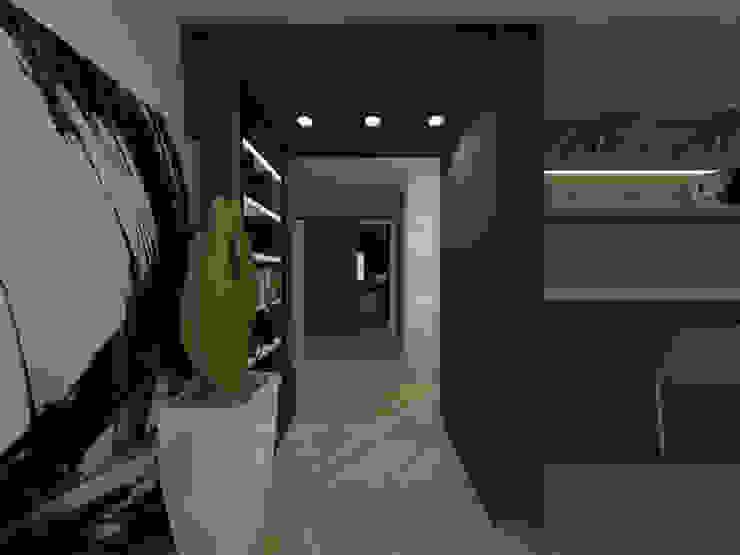 두공간을-- 한공간으로 인테리어 디자인 모던스타일 온실 by 디자인 이업 모던 금속