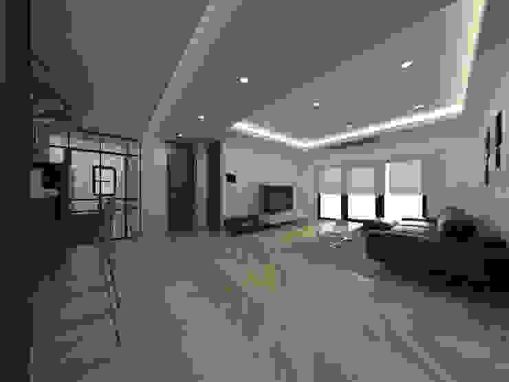 두공간을-- 한공간으로 인테리어 디자인 모던스타일 거실 by 디자인 이업 모던 우드 우드 그레인