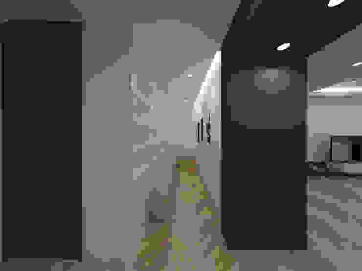 두공간을-- 한공간으로 인테리어 디자인 모던스타일 서재 / 사무실 by 디자인 이업 모던 우드 + 플라스틱