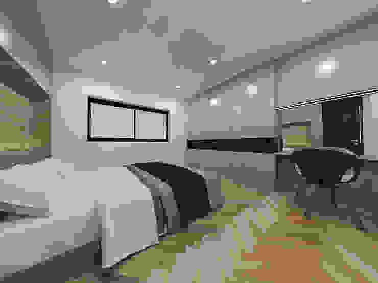 두공간을-- 한공간으로 인테리어 디자인 모던스타일 미디어 룸 by 디자인 이업 모던 솔리드 우드 멀티 컬러