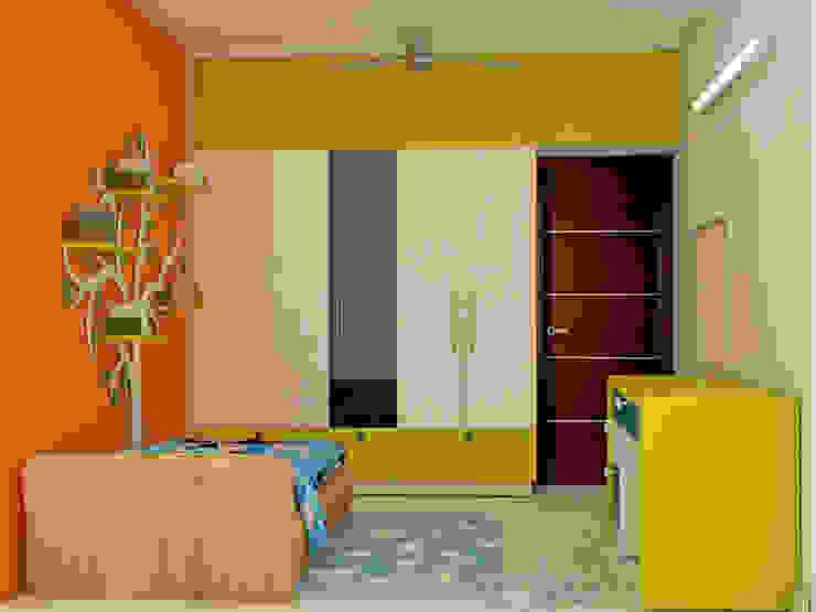 Mantri Webcity, Duplex 3 BHK - Mr. Vishal:  Nursery/kid's room by DECOR DREAMS