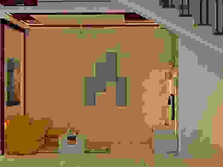 Mantri Webcity, Duplex 3 BHK - Mr. Vishal:  Living room by DECOR DREAMS
