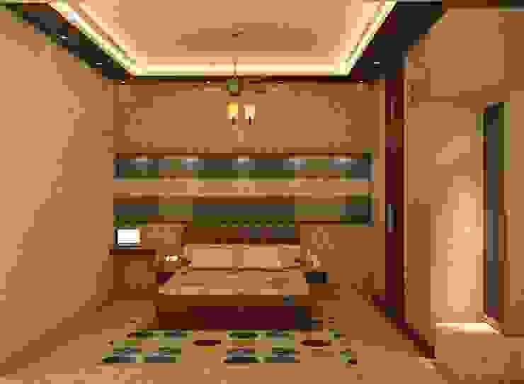 Mantri Webcity, Duplex 3 BHK - Mr. Vishal:  Bedroom by DECOR DREAMS