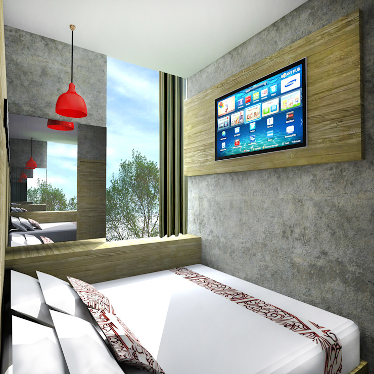 BROTHERS INN DEMANGAN - YOGYAKARTA Hotel Gaya Rustic Oleh IMG ARCHITECTS Rustic