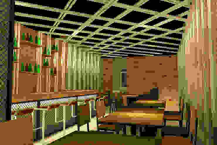 HUNGRILL BISTRO & BAR - TANGERANG SELATAN, BANTEN Bar & Klub Gaya Rustic Oleh IMG ARCHITECTS Rustic