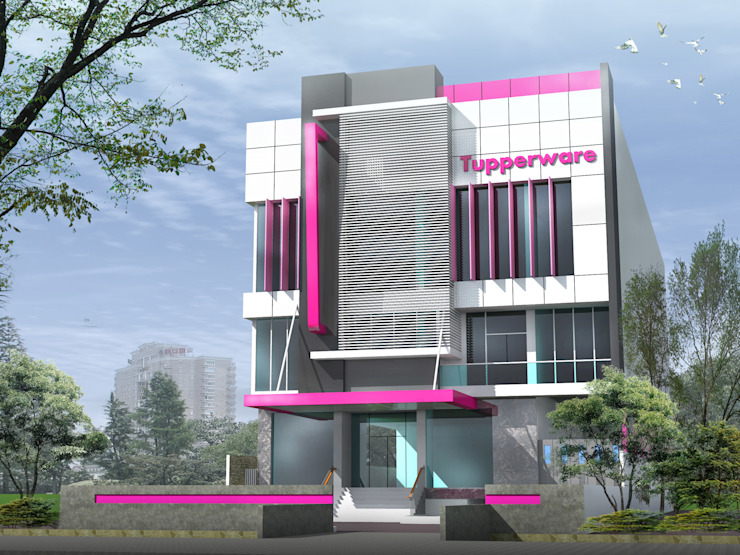 TUPPERWARE OFFICE & SHOWROOM - BANJARMASIN, KALIMANTAN SELATAN Bangunan Kantor Modern Oleh IMG ARCHITECTS Modern