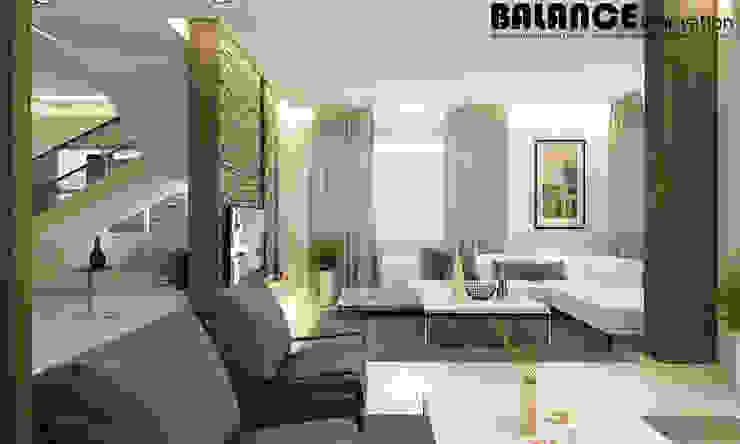 Reception & Living Room من Balance Innovation
