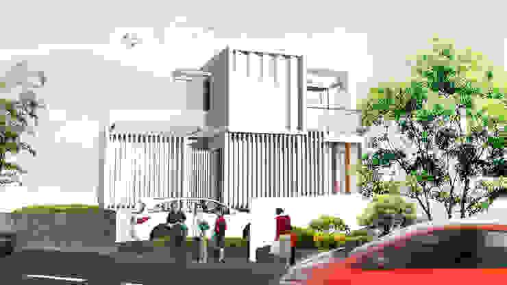 現代房屋設計點子、靈感 & 圖片 根據 IMG ARCHITECTS 現代風