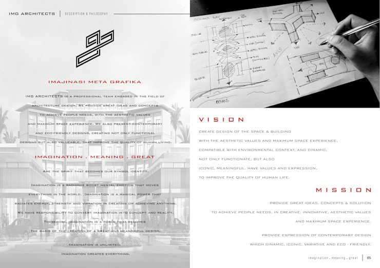COMPANY PROFILE Bangunan Kantor Modern Oleh IMG ARCHITECTS Modern