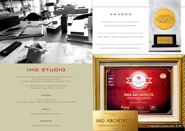 COMPANY PROFILE - AWARDS Bangunan Kantor Modern Oleh IMG ARCHITECTS Modern