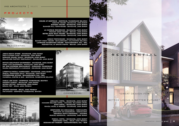 PROJECT LIST Ruang Komersial Modern Oleh IMG ARCHITECTS Modern