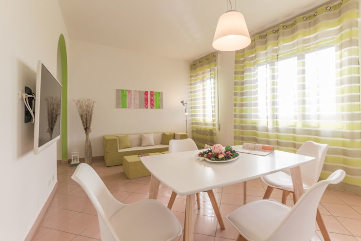Airone, Home Staging per la Microricettività Anna Leone Architetto Home Stager Soggiorno minimalista Verde