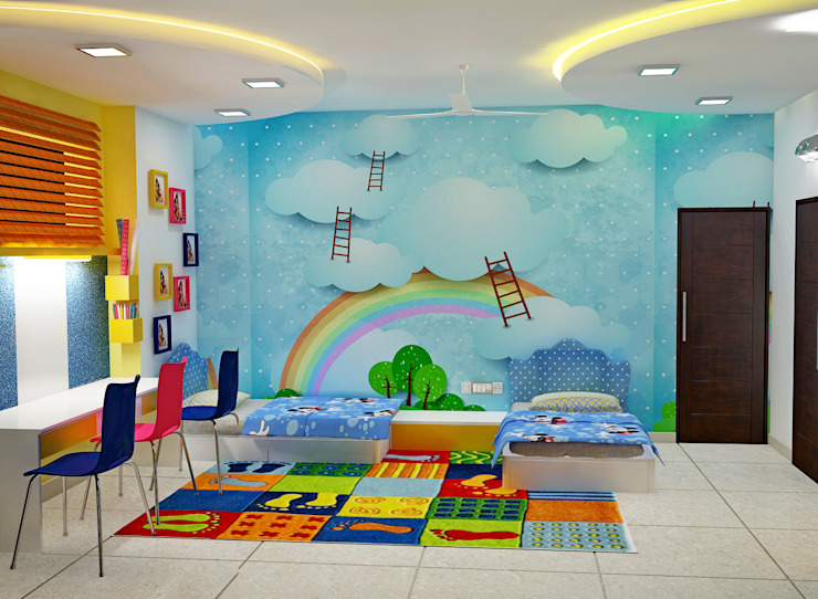 JR Greenwich Villas, Sarjapur Road - Ms. Natasha DECOR DREAMS Teen bedroom