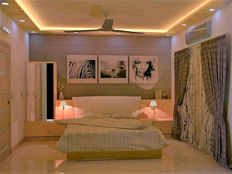 JR Greenwich Villas, Sarjapur Road—Ms. Natasha Eclectic style bedroom by DECOR DREAMS Eclectic