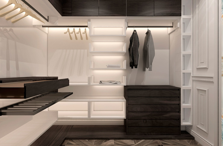 Phòng thay đồ phong cách chiết trung bởi U-Style design studio Chiết trung