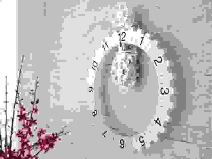 Kairos Bezel Clock Silver: modern  by Just For Clocks,Modern Metal