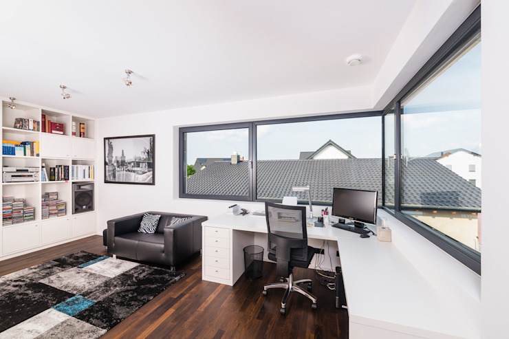 Modern study/office by Helwig Haus und Raum Planungs GmbH Modern