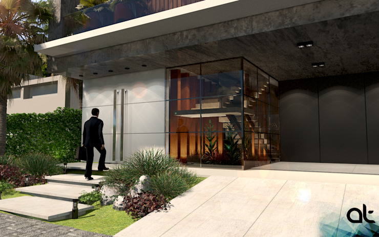 Mediterranean style house by AT ARQUITETURA E INTERIORES Mediterranean