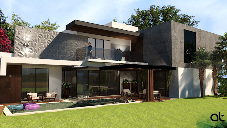 Modern houses by AT ARQUITETURA E INTERIORES Modern