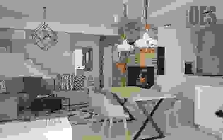 OES architekci 现代客厅設計點子、靈感 & 圖片 水泥 Grey