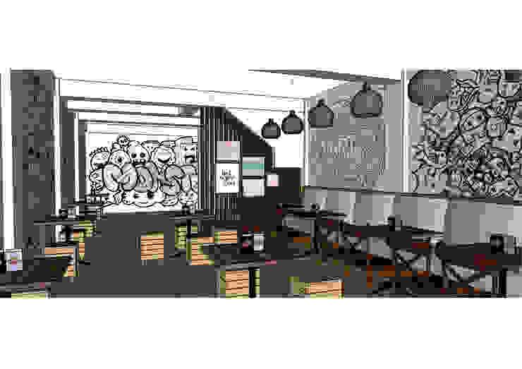 Area lantai 2 Asanka Interior Ruang Makan Gaya Industrial