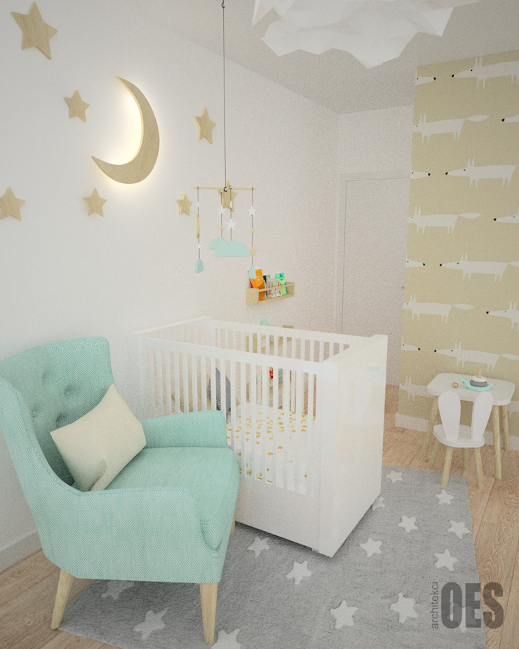 OES architekci Modern nursery/kids room Wood Green