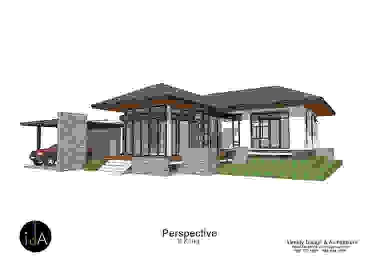 บ้าน คุณกุ้ง โดย Identity Design & Architecture Part.,Ltd โมเดิร์น