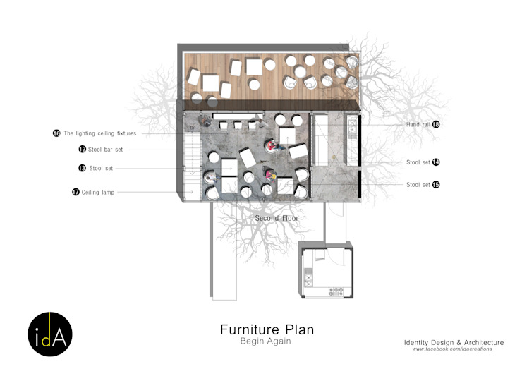 ร้านกาแฟ Begin Again โดย Identity Design & Architecture Part.,Ltd มินิมัล