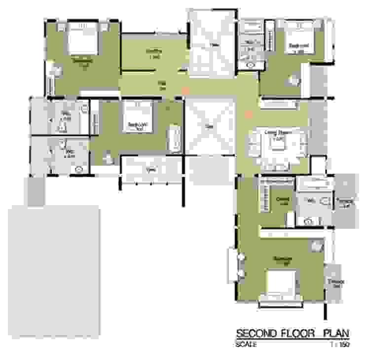 ผลงานการออกแบบ โดย รับออกแบบ เขียนแบบบ้าน