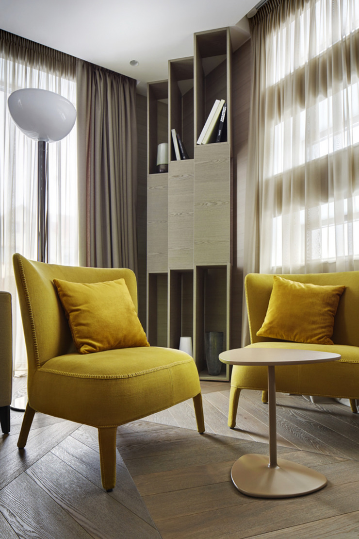 House in Minsk Modern living room by Unique Design Company Modern
