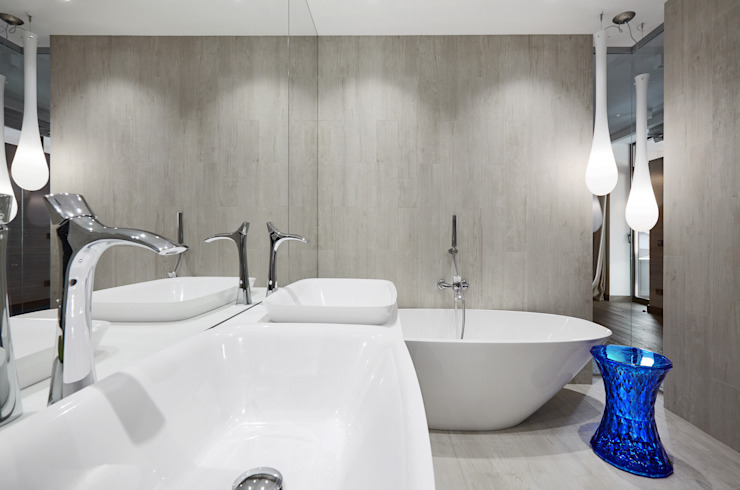House in Minsk Modern bathroom by Unique Design Company Modern