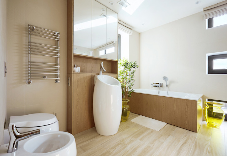 House in Minsk Modern bathroom by Unique Design Company Modern