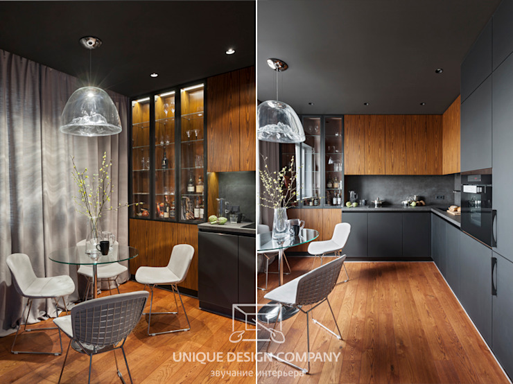 Apartment on Filimonova street Minsk Cozinhas modernas por Unique Design Company Moderno