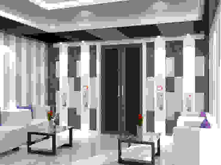 Salon minimaliste par setup solution Minimaliste Contreplaqué