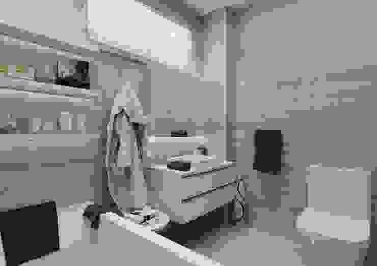 Banyo PRATIKIZ MIMARLIK/ ARCHITECTURE Modern Banyo Seramik Gri