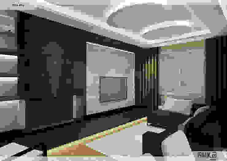 Salon PRATIKIZ MIMARLIK/ ARCHITECTURE Modern Oturma Odası Orta Yoğunlukta Lifli Levha Ahşap rengi
