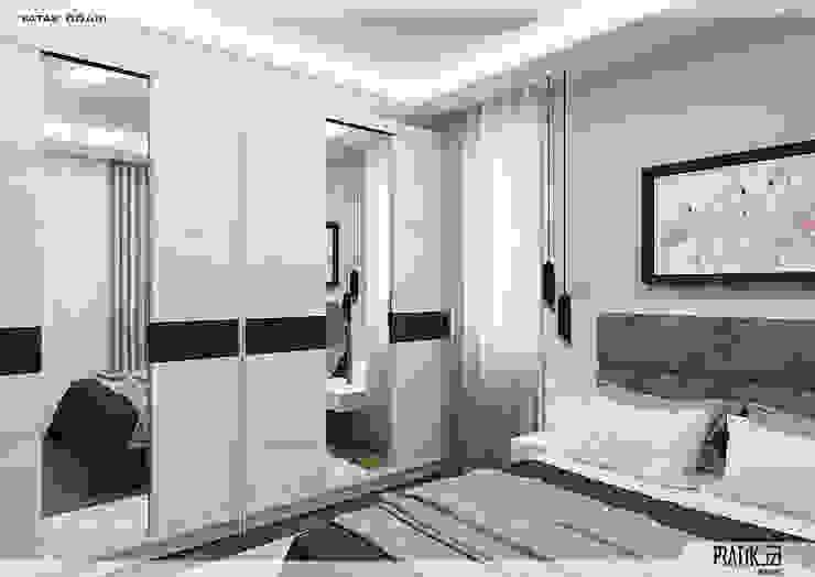 Yatak Odası PRATIKIZ MIMARLIK/ ARCHITECTURE Küçük Yatak Odası