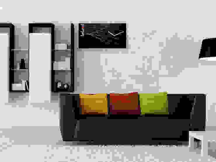 Progetti Timeline Wall Clock Black: modern  by Just For Clocks,Modern Wood Wood effect