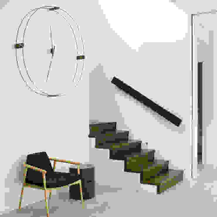 Nomon Delmori - Wenge & Black: modern  by Just For Clocks,Modern Metal