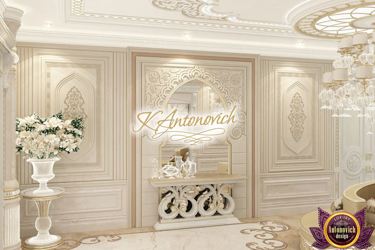 ​ Luxurious interior design by Katrina Antonovich Classic style corridor, hallway and stairs by Luxury Antonovich Design Classic