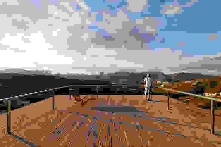 Play Arquitetura Balkon, Beranda & Teras Modern Kayu