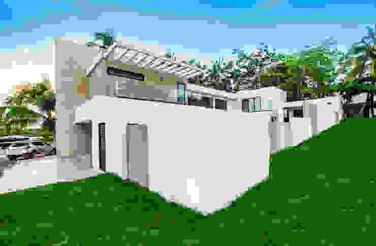 Casas unifamiliares de estilo  por Constructora e Inmobiliaria Catarsis, Moderno Piedra