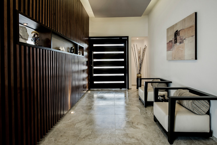 Modern corridor, hallway & stairs by Constructora e Inmobiliaria Catarsis Modern Wood Wood effect